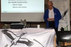 Foto: Monika Kröber - Unser 1. Vorsitzender Manfred Becker beim Tätigkeitsbericht