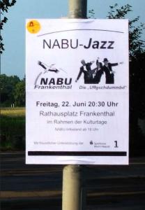 Foto: Manfred Becker - Die Plakataktion im Vorfeld sollte schon ordentlich Aufmerksamkeit erregen…