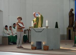 Evelyn und Pfarrer Mühl